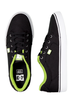 DC - Anvil TX Black/Softlime - Shoes