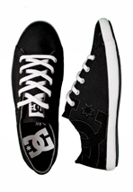 DC - Cleo Black/White - Girl Shoes
