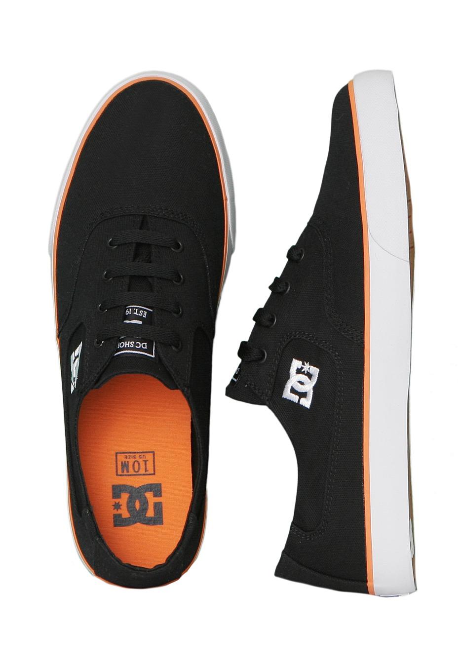 dc flash tx black orange shoes impericon uk