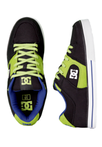 DC - Pure Slim TX Black/Royal/Softlime - Shoes