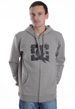 DC - Scuffle Heather Grey/Black - Zipper
