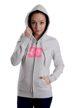 DC - Star Grey Heather - Girl Zipper