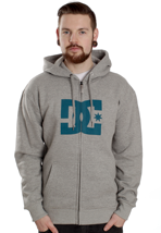 DC - Star Heather Grey/Olympia Blue - Zipper