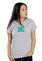 DC - TStar Heather Grey/Emerald - Girly
