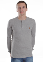 DC - Yield Henley Heather Grey - Longsleeve