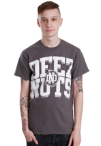 Deez Nuts - College Logo Charcoal - T-Shirt