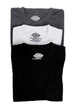 Dickies - Dickies Multi Color Pack Of 3 White/Grey/Black - T-Shirt