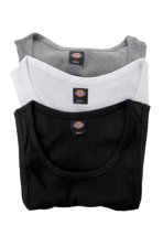 Dickies - Proof Multicolored Pack Of 3 White/Grey/Black - Tank