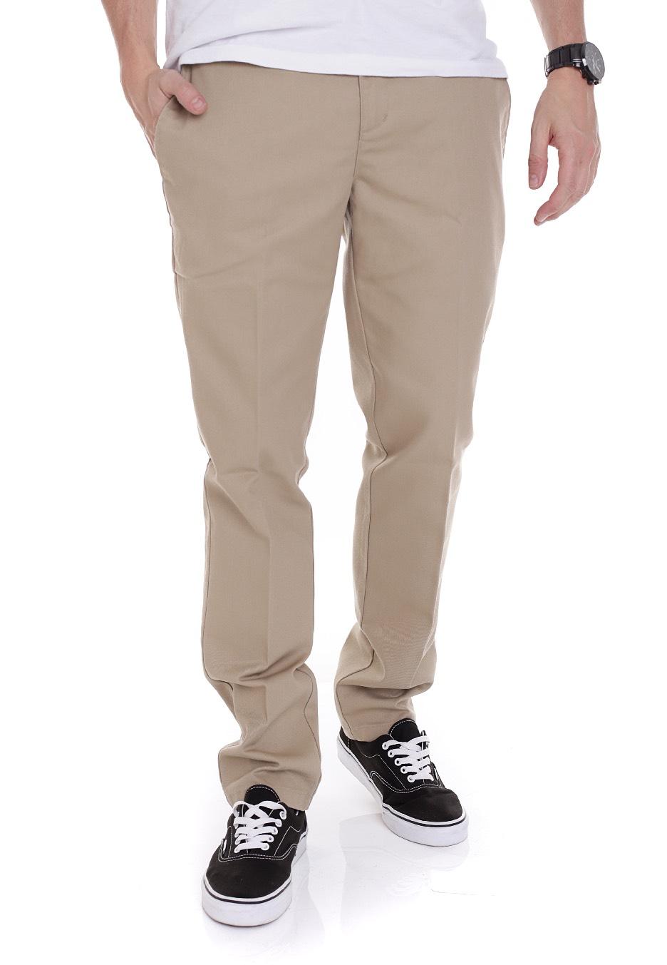 Cool Khaki  Dickies Women39s Premium Pleated Front Pants  FP220KH