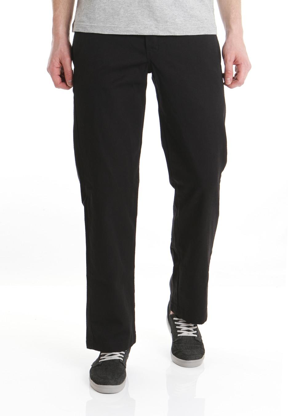 slim straight black pants - Pi Pants
