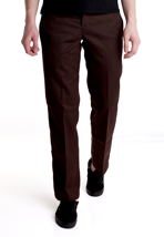 Dickies - Slim Straight Work Chocolate Brown - Pants