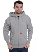 Dickies - Thermal Lined Fleece Ash Grey - Zipper