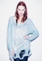 Drop Dead - Boner Light Green - Girl Sweater