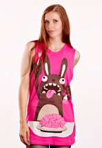 Drop Dead - Brainssss! Pink - Girl Tank