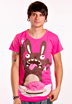 Drop Dead - Brainssss! Pink - T-Shirt