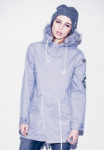 Drop Dead - Eskomi Grey - Girl Jacket