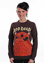Drop Dead - Excited! Brown - Girl Sweater