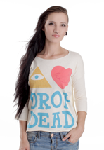 Drop Dead - Eye Heart Drop Dead White - Girl Sweater