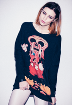 Drop Dead - Facemelter - Girl Sweater
