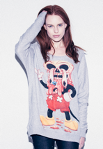 Drop Dead - Facemelter Grey - Girl Sweater