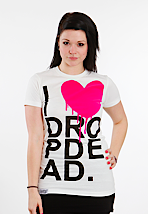 Drop Dead - I Heart White - Girly