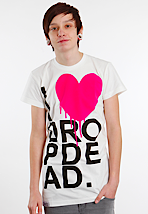 Drop Dead - I Heart White - T-Shirt