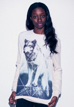 Drop Dead - Jordan Wolf Cream - Girl Sweater