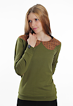 Drop Dead - Luxe Green - Girl Sweater