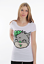 Drop Dead - Mascot Kitty White - Girly