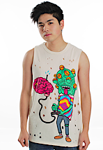 Drop Dead - Mind Games Light Yellow - Tank