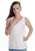Drop Dead - Native White - Girl Tank