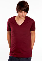 Element - Basic V S/S Ox Blood Heather - V Neck T-Shirt