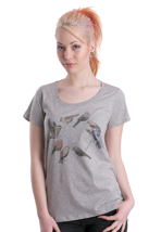 Element - Feathered Friends Grey Heather - Girly