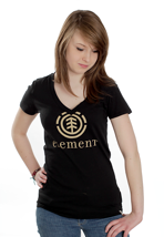 Element - Logo - V Neck Girly
