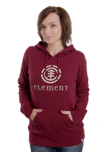 Element - Logo Biking Red - Girl Hoodie