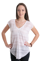 Element - Sabrina III White - V Neck Girly