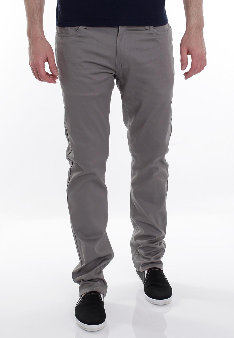 grey twill pants - Pi Pants