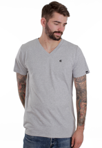 Etnies - Small Icon Grey/Heather - V Neck T-Shirt