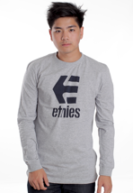 Etnies - Stacked Grey/Heather - Longsleeve