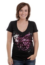 Famous Stars And Straps - Stardust Bombshell Black - V Neck Girly