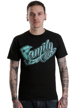 Famous Stars And Straps - Family 3D Black/Teal - T-Shirt