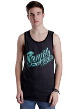 Famous Stars And Straps - Family 3D Stone Charcoal Heather/Black/Teal - Tank