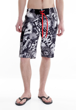Famous Stars And Straps - Paint Eater Black/Grey/White - Board Shorts