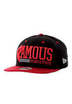 Famous Stars And Straps - Think Fast Black/Red/White Snapback - Cap