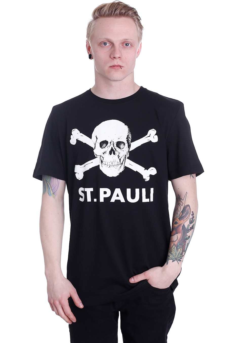 fc st pauli totenkopf i t shirt official merchandise shop uk. Black Bedroom Furniture Sets. Home Design Ideas