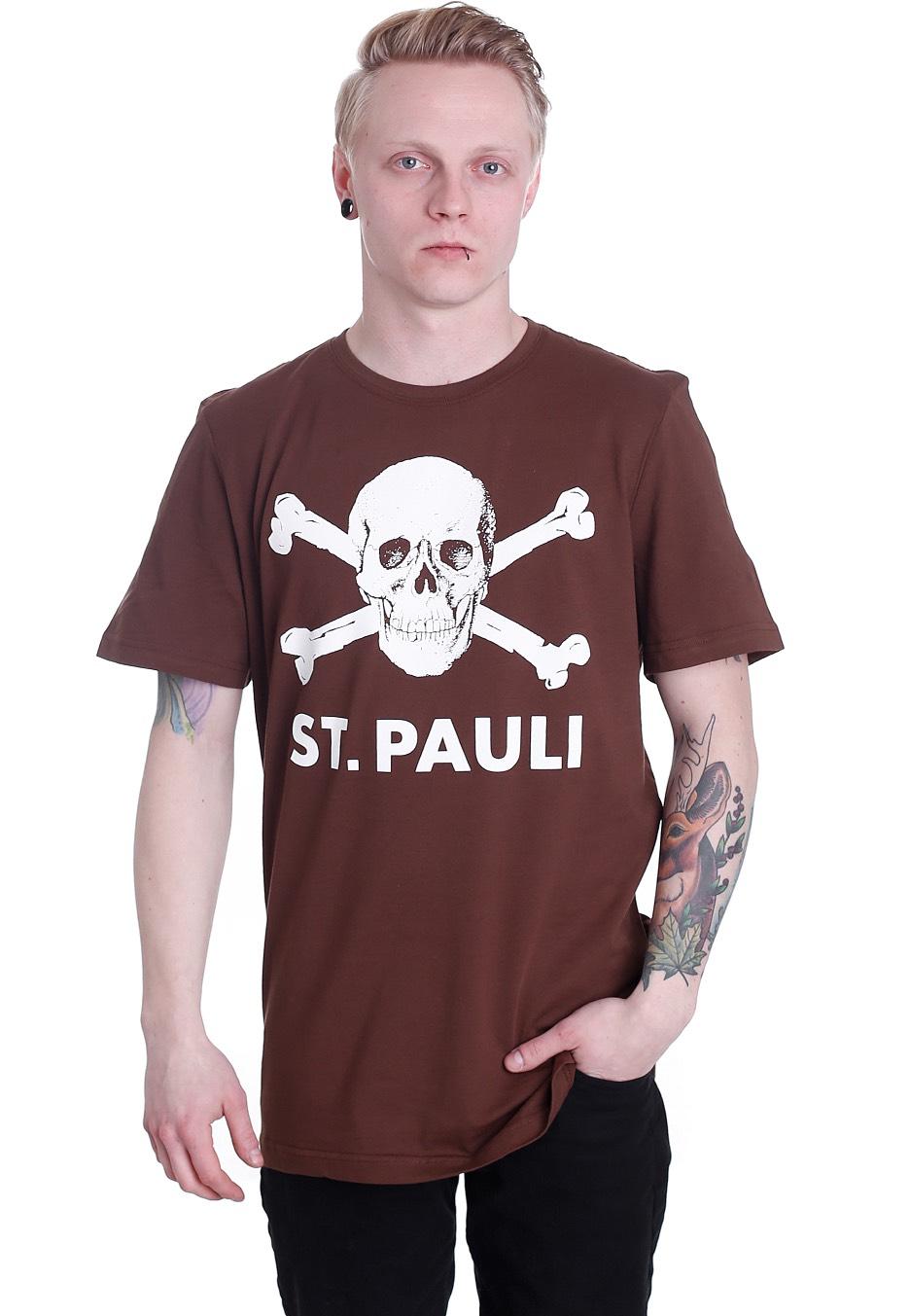 fc st pauli totenkopf braun t shirt official merchandise shop worldwide. Black Bedroom Furniture Sets. Home Design Ideas
