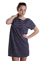 Fred Perry - Breton Stripe Carbon Blue - Girl Dress