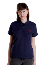 Fred Perry - Concealed Colour Block Carbon Blue - Girl Polo