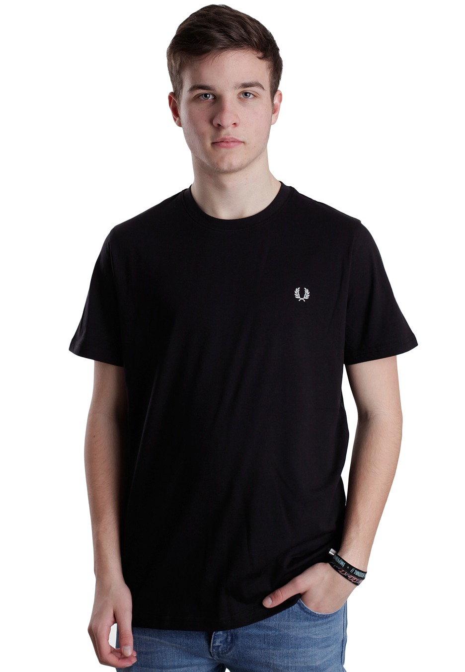 fred perry crew neck plain t shirt streetwear shop impericon. Black Bedroom Furniture Sets. Home Design Ideas