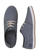 Fred Perry - Finn Chambray Navy/Carbon Blue/Oyster - Shoes